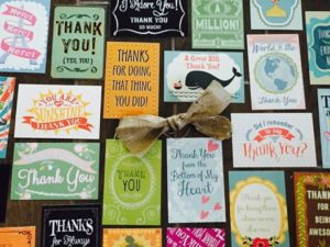 Thank You Card Pack Samples